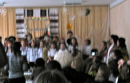 Another коляда (caroling) concert at school! These happened all week, I think.