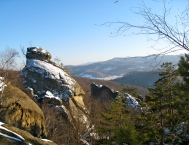 View from the top of Dovbush Rocks