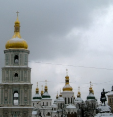 St. Sophia's in Kyiv - snow-capped