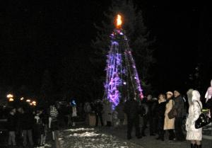 1 Jan 2012: New Year celebrations in Sniatyn, Ukraine