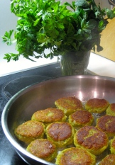 little frying falafels