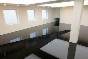 Richard Wilson 20:50 installation (photo courtesy of my dad)