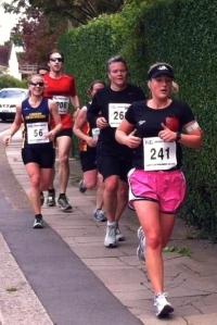 running with C & F, just before catching up with J