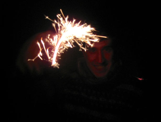 Sparklers on New Year's Eve