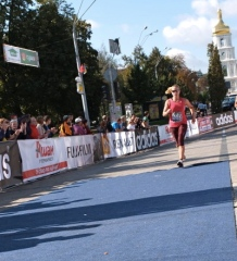 finishing the Kyiv Half Marathon 2012