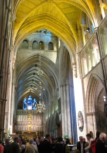 inside Southwark Cathedral, post-concert