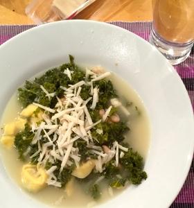 parmesan, kale, & white bean soup + tortellini