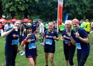 Post-race with running co-workers (photo courtesy of HP)