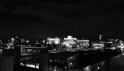 Waterloo Bridge & Embankment from South Bank