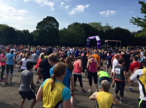 Aerobics warm up for the Crouch End 10k