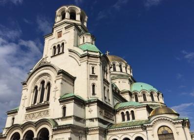 Alexander Nevsky Cathedral. So many domes!