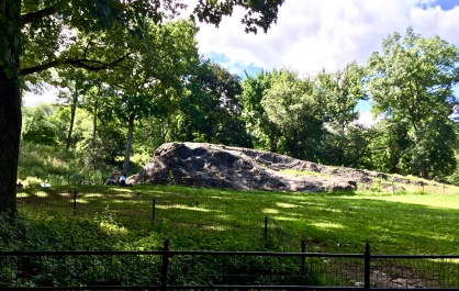 Central Park rock. Apparently I played on this as a child.