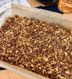 pecan-walnut bars